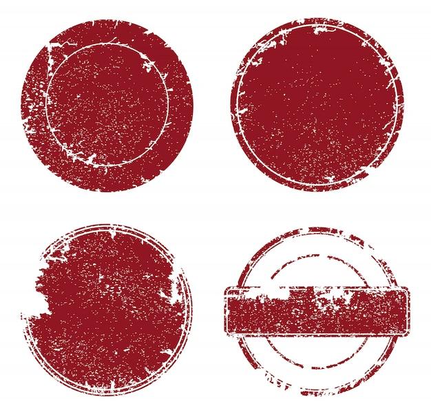 Conjunto de sellos grunge