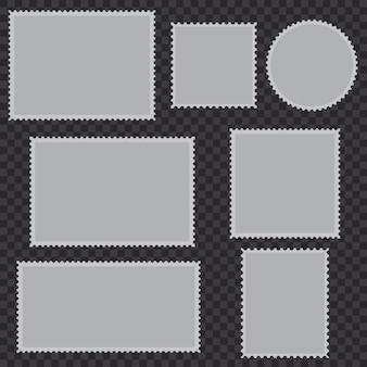 Conjunto de sellos postales en blanco