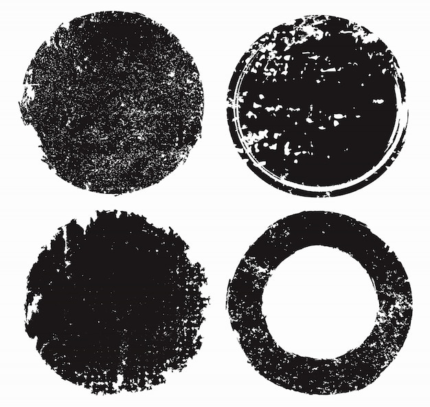Conjunto de sellos con textura grunge