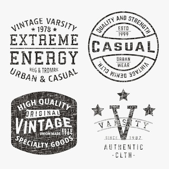 Conjunto de sellos vintage