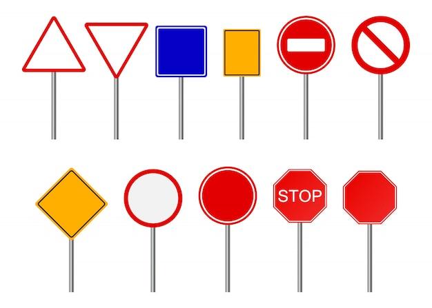 Conjunto de señales de carretera