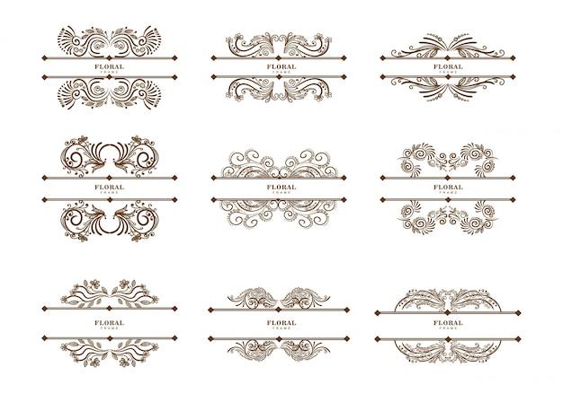 Conjunto de separadores florales vintage
