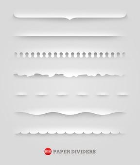 Conjunto de separadores de papel