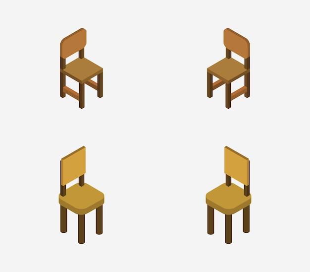 Conjunto de sillas isométricas
