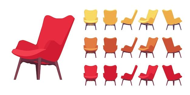 Conjunto de sillón retro