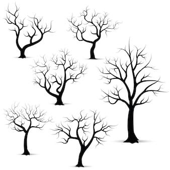 Conjunto de silueta de árbol