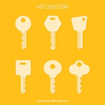 Conjunto de siluetas de llaves