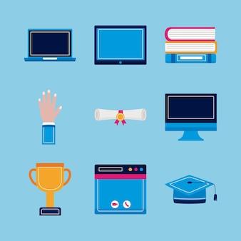Conjunto de símbolo de graduación virtual