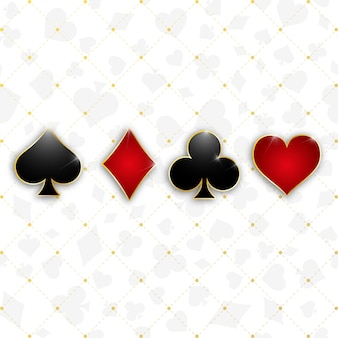 Conjunto de símbolos baraja de cartas