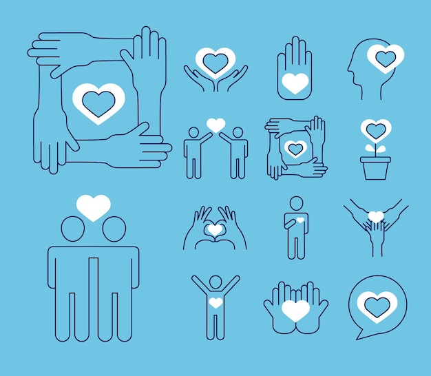 Conjunto de símbolos de cuidado