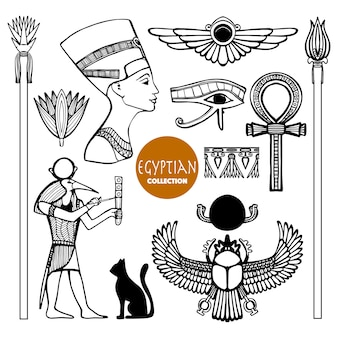 Conjunto de símbolos de egipto