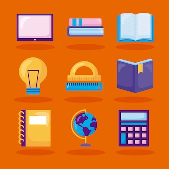 Conjunto de símbolos de la escuela