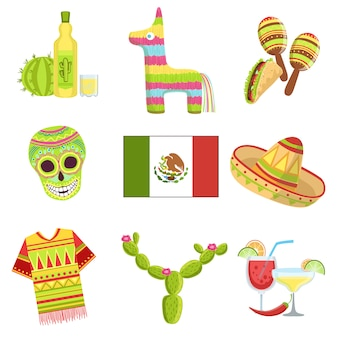 Conjunto de símbolos nacionales mexicanos