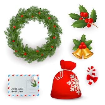 Conjunto de símbolos navideños