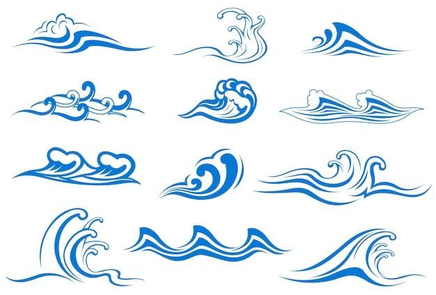 Conjunto de símbolos de onda