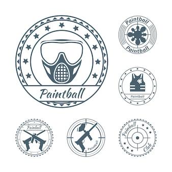 Conjunto de símbolos de paintball