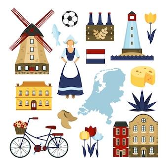 Conjunto de símbolos de países bajos