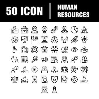 Conjunto simple de iconos de línea relacionados con el trabajo en equipo. contiene íconos como colaboración, investigación, reunión y más. carrera.