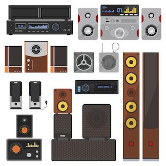 Conjunto de sistemas de música.