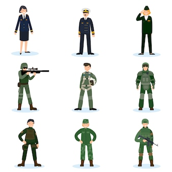 Conjunto de soldados del ejército