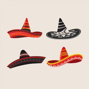 Conjunto de sombrero de cinco de mayo