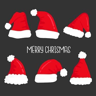 Conjunto de sombrero de navidad.