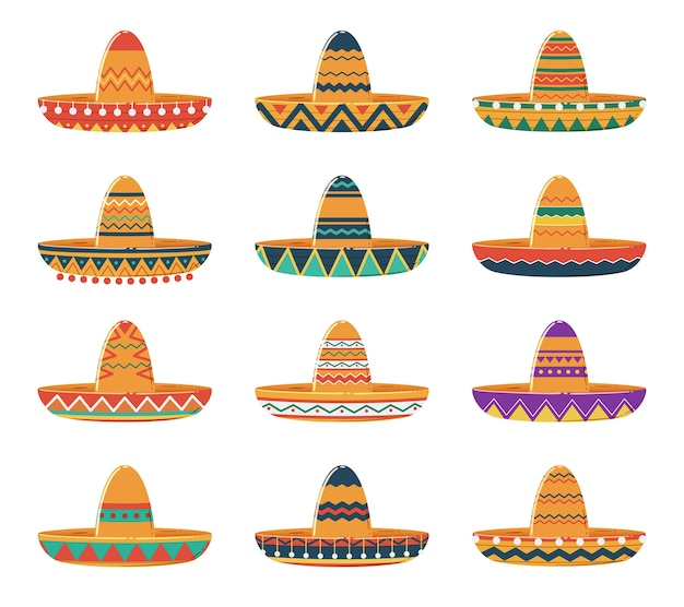 Conjunto de sombrero sombreros