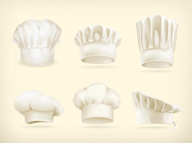 Conjunto de sombreros de chef