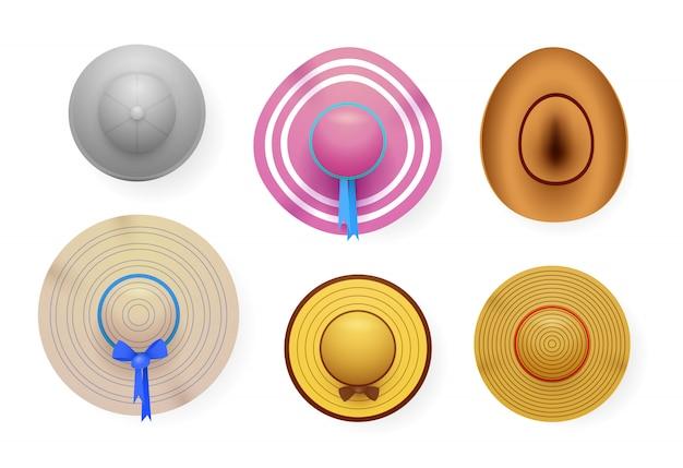 Conjunto de sombreros de verano