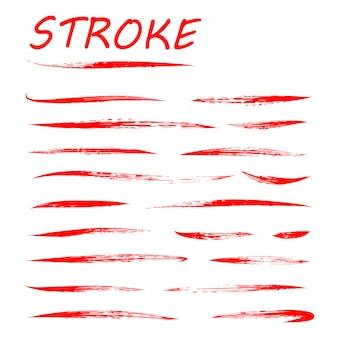 Conjunto de subrayado convexo de letras blancas de mano con sombra