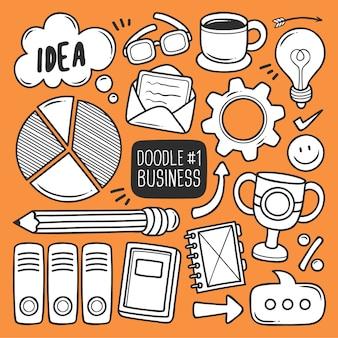 Conjunto de suministros de oficina doodle