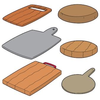 Conjunto de tabla de cortar