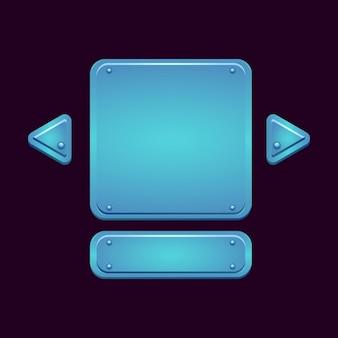 Conjunto de tablero de interfaz de usuario de juego de rpg de fantasía emergente para elementos de activos de interfaz gráfica de usuario