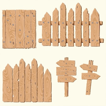 Conjunto de tablones de madera