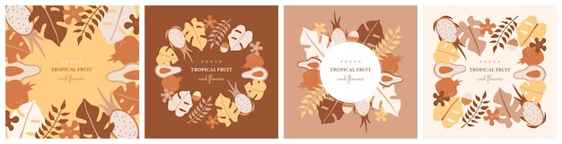 Conjunto de tarjeta de felicitación.