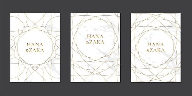 Conjunto de tarjeta de invitación de boda