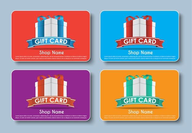 Conjunto de tarjeta de regalo