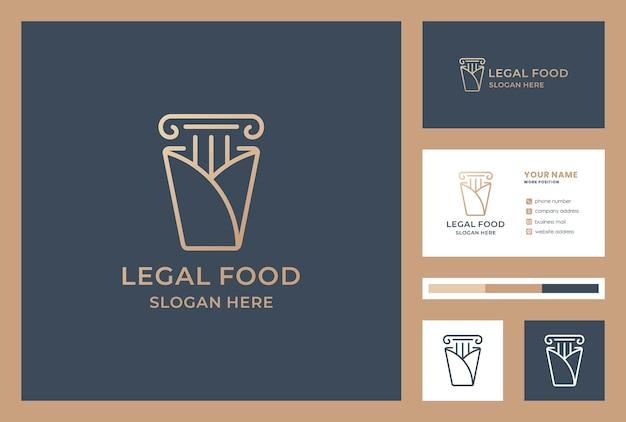 Conjunto de tarjeta de visita de logotipo de ley