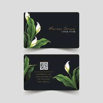 Conjunto de tarjeta de visita con motivos naturales