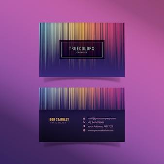 Conjunto de tarjeta de visita de plantilla abstracta