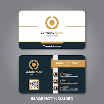 Conjunto de tarjeta de visita profesional moderna