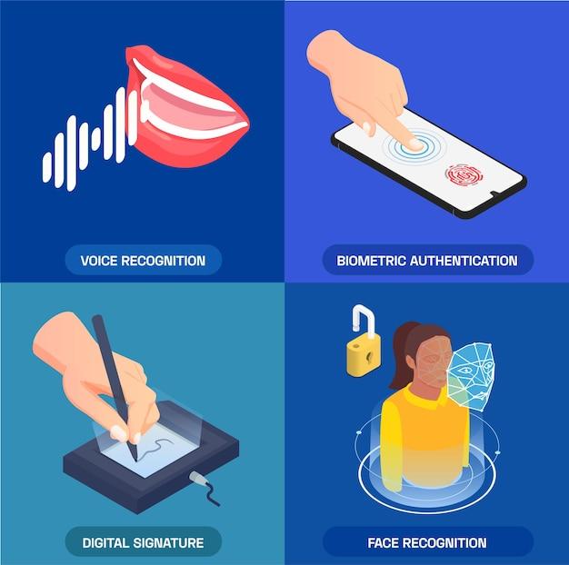 Conjunto de tarjetas de autenticación biométrica
