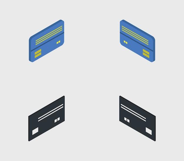 Conjunto de tarjetas bancarias isométricas