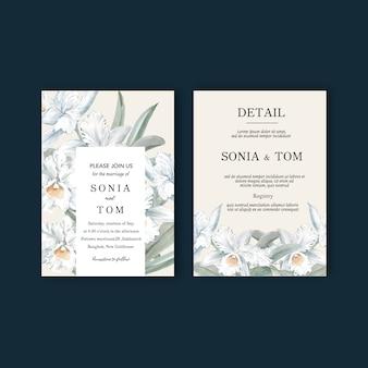 Conjunto de tarjetas de boda floral
