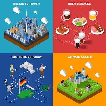 Conjunto de tarjetas de cultura alemana