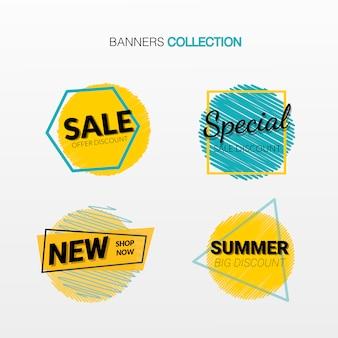 Conjunto de tarjetas de descuento de oferta especial.