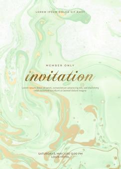 Conjunto de tarjetas de invitación de boda de mármol. tarjetas de invitación de boda de lujo con textura de mármol dorado y plantilla de diseño de vector de diseño de borde dorado