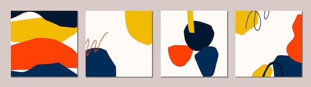 Conjunto de tarjetas modernas abstractas