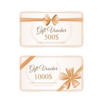 Conjunto de tarjetas de regalo elegante