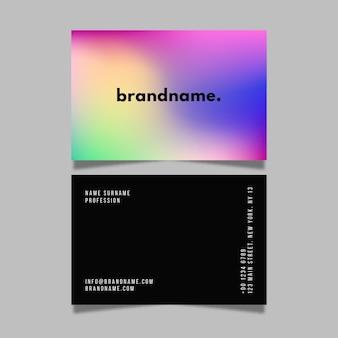 Conjunto de tarjetas de visita con degradado